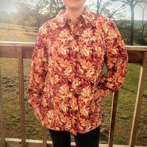cj banks 1X Autumn Leaf Christopher & Banks Shirt